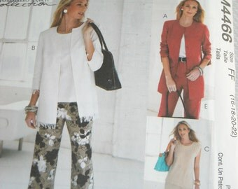 2004 McCalls pattern #M4466 Misses cardigan, top and pants in 2 lengths - NEW in PACKAGE Size FF