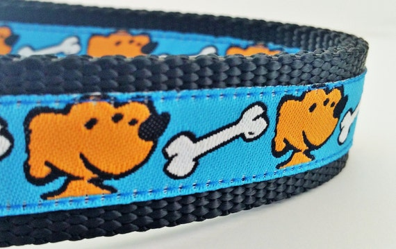 Yellow Dog - Dog Collar / Handmade / Adjustable / Pet Lover / Gift Idea / Labrador / Dog Bone
