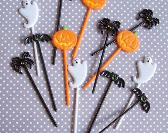12 Mini Halloween Cupcake Picks