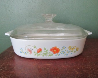 Corning Ware Wildflower 8 Inch Casserole with Lid