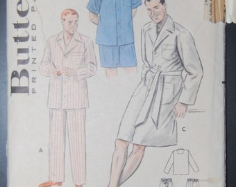Butterick 6317 Vintage Sewing Pattern Mens Sleepwear Sale
