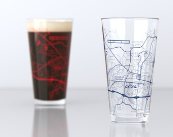 Oxford, MS - Ole Miss - College Town Pint Map Glasses