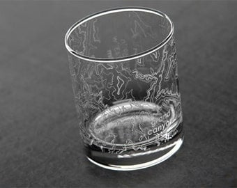 Grand Canyon Topographic Map Glass