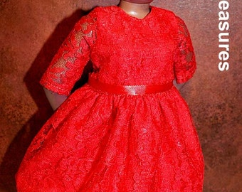 Dasia Clothing Red Lace Dress
