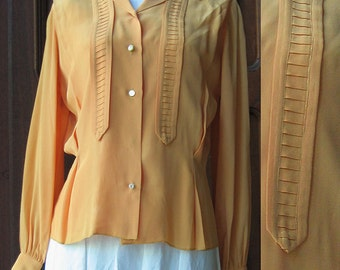 Vintage Marigold Long Sleeved Blouse