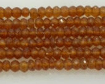 hessonite garnet facetted roundel 4mm