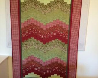 Christmas Theme Bargello Lap Quilt