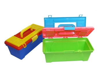 SALE - Set of 14 Small Tool Boxes - Perfect for Personalization - Holiday Gifts, Gift Bags, Party Favors