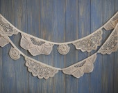 Vintage Doily Bunting. Wedding Bunting. Shabby Chic Bunting. A beautiful 3m strand made out of gorgeous doilies.