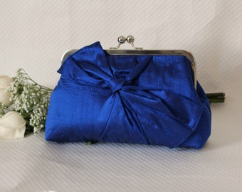 Bridal Clutch - Wedding Clutch - Bridesmaids Clutch - Wedding Purse - Bridesmaid Gifts - Cobalt Blue Clutch - Samantha Clutch