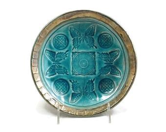 BUTTERFLY CELTIC Decorative Bowl Handmade Raku Pottery