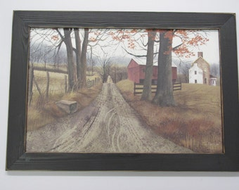 Billy Jacobs,Country Wall Decor,The Road Home,Handmade Disressed Frame,201/2x141/2