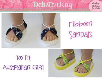 Sandals - Doll Shoes to fit Australian Girl Doll B77