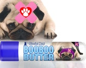 Pug Boo Boo Butter Handcrafted All Natural Herbal Balm to Soothe Your Pug's Discomforts .15 oz tube Salve with Pug Ouch! Label in Gift Bag