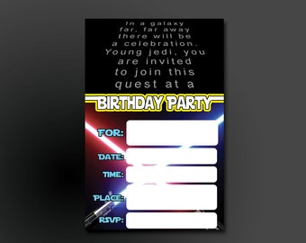 Printable DIY Boys Birthday Invitation Fill In The Blank Creep - Star wars birthday invitation diy