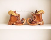 New elf boot color pumpkin antique Stain ready to ship