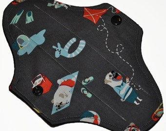 Liner Hemp Core- Pug Life Reusable Cloth Mini Pad- WindPro Fleece- 7.5 Inches (19 cm)