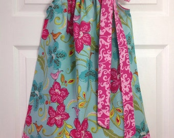 READY TO SHIP - Vibrant Floral Pillowcase Dress Size 6