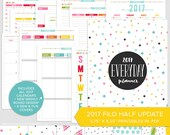 "FH • 2017 Everyday Planner Update - PDF - 5.75"" x 8.25"" - A5 Filofax Half Size Printable Organizer Inserts"