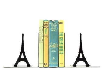 Eiffel Tower Metal Art Bookends - Free USA Shipping