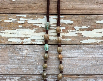 Primitive Tribal Bead and Coin Necklace Nepal India