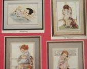 Bessie Pease Gutmann by Stoney Creek Counted Cross Stitch Patterns 4 Designs Childs Room Decor Nursury Decor Wall Hangings