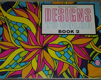 1966 BETTY SCHAFFNER'S Designs To Color Book #2