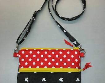 Disney Minnie Mouse purse, messenger/cross body bag handmade