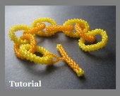 Bracelet Beading Tutorial. Chain Link Right Angle Weave Ringlet Instructions for Personal Use