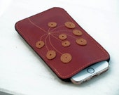 womens iphone 6 / 6s wallet, womens wallets wallet leather iPhone 6 case, iphone 6s case, lipstick red floral white wallet