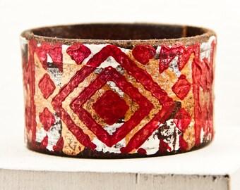 Gypsy Jewelry Cuffs Boho Bracelets Bohemian Wrist Cuffs - Women's Cuffs Made from Leather