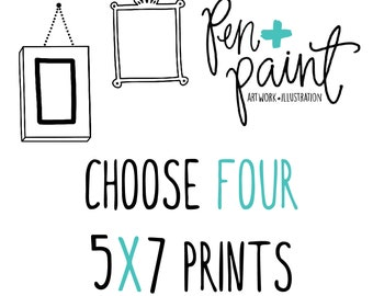 FOUR 5 x 7 art prints, Inspirational Quote, Bible Verse, Scripture, Rainbow, Colorful, Joy Quote, Inspiring Quote
