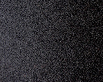 FABRIC solid Black pure Virgin Merino boiled wool knit from Italy