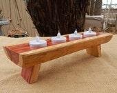 Reclaimed Red Cedar Tea Lite Candle Holder  ~  Reclaimed Wood Tea Lite Candle Holder  ~  Reclaimed Wood Candle Holder  ~ Cedar Candle Holder