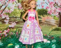 STCE1-80) 9.0 inch STACIE doll clothes, 1 pretty easter dress