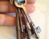 Antique Skeleton Keys Set of Four