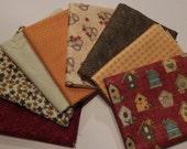NEW  Garden Days Spring Fabric Bundle Quilt Craft Fat Quarter Bundle- Reds Golds & Greens