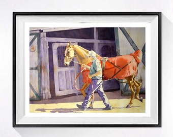 Horse Art, Limited Edition Print, Saddle bred horse, Watercolor,  Equestrian art,  Animal painting,  Fine Art print, Equine art