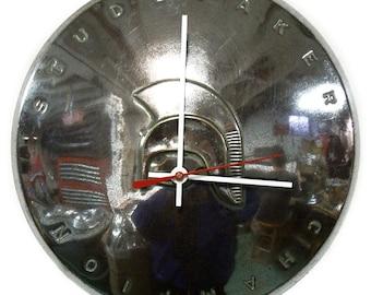 1939 Studebaker Champion Hubcap Clock - Classic Car Hub Cap Wall Decor