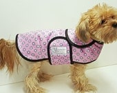 PInk Daisy Minky Dog Coat  20 dollars to 50 dollars depending on the size by Doodlebug Duds
