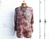 Large lace jacket/Upcycled lace blazer Jacket/Romantic Jacket/Nebula Clothing/Hippie Jacket/Boho Jacket/Tea Stained Upcycled Clothing