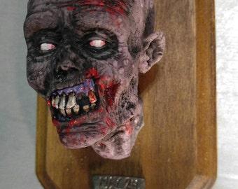 Zombie Head Trophy Magnet