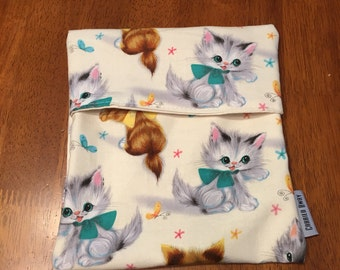 Sandwich Bag Fold Over Top - Kittens