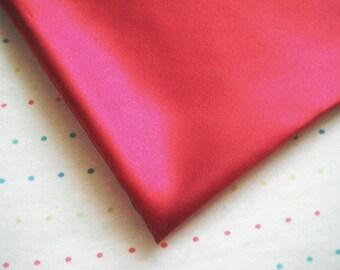 Burgundy Satin Lining Fabric, Maroon, Dark Red, Sample Size Fabric (Fat Quarter - 18 x 30)