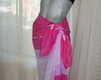 Vintage 1970s Silky Butterfly Sarong Huge One Size Exec Cond