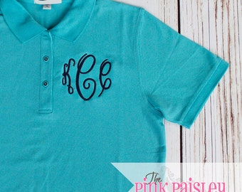 Monogrammed Teacher Shirt | Monogrammed Polo | Back To School Shirt
