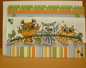 Owl Card(s) - you choose