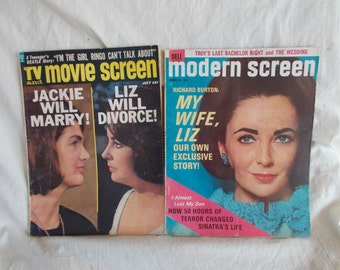 Vintage Modern Screen And TV Movie Screen Magazines Lot