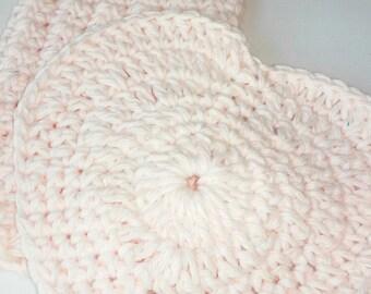 Facial Cloths / Wash Cloths / Cotton dish cloth / Baby Wash Cloth / Heart Wash Cloth