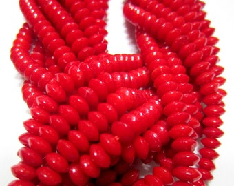 Coral beads red bamboo beads 5mm red beads strand g012-C-4